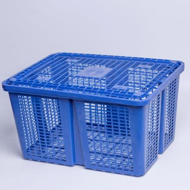 OEM High quality plastic basket, plastic crate with lid