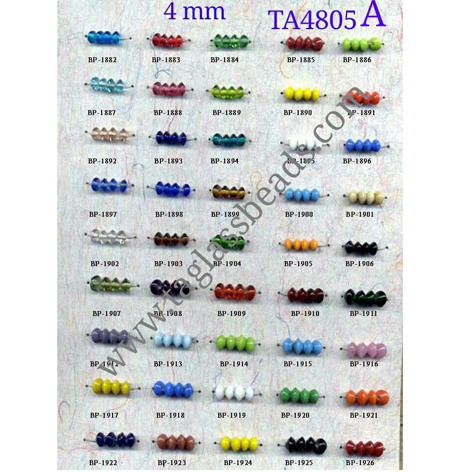 Chakri small size 4 mm glass beads