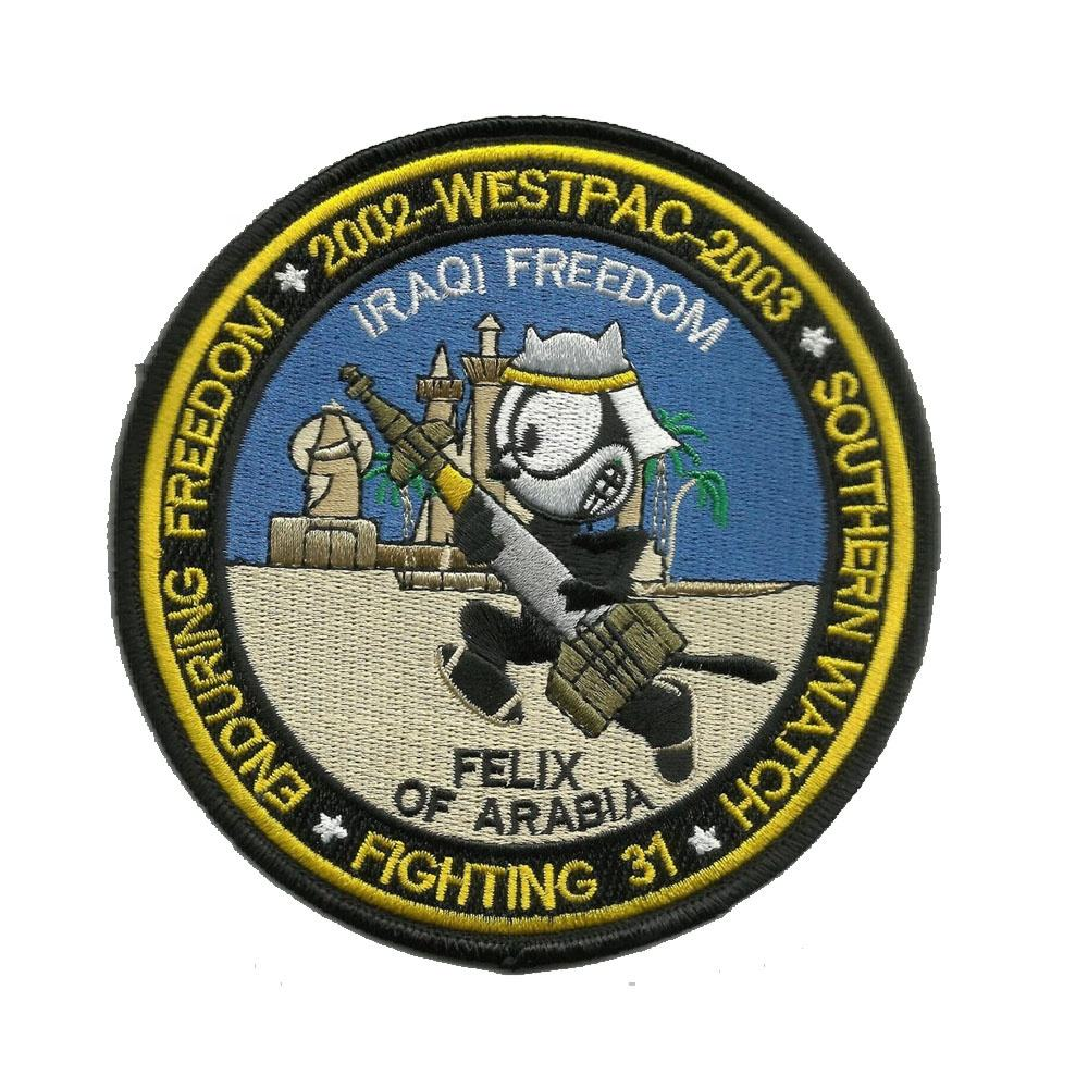 WESTPAC 2002 - 2003 VF-31 Felix von Arabia Oif Oef Southern Watch Military Embroidery Patch