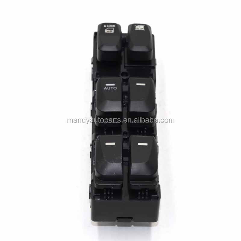 Black Door Power Window Switch Rear Right 93580-3S000 For Sonata 2011-2014 New