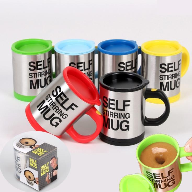 Factory Supply Adults Camp Stainless Steel Mug self stirring mug Applicable Boiling Water from China