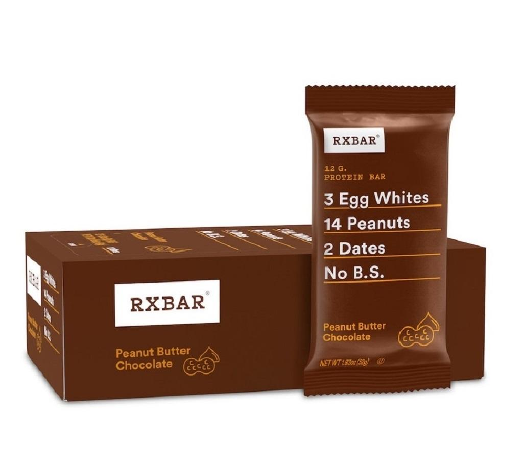 Great Meal Replacement High Protein RXBAR Peanut Butter Chocolate Protein Bar 1.83 Ounce (Pack of 12)