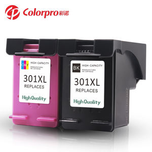 Colorpro 301 301XL ink cartridge compatible for hp printer with box