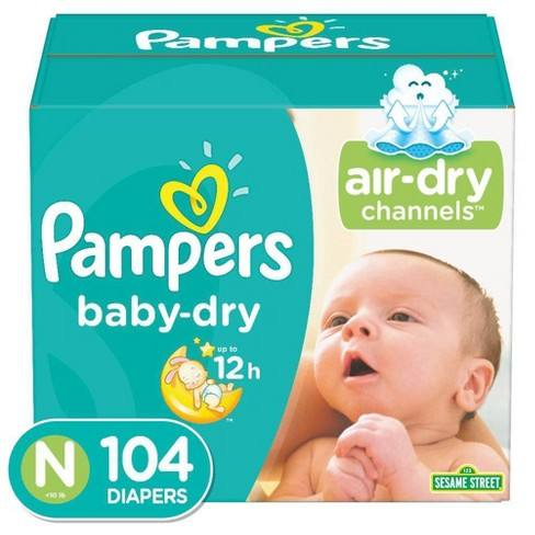 Diapers Newborn/Size 1 (8-14 lb), 96 Count - Pampers wholesale