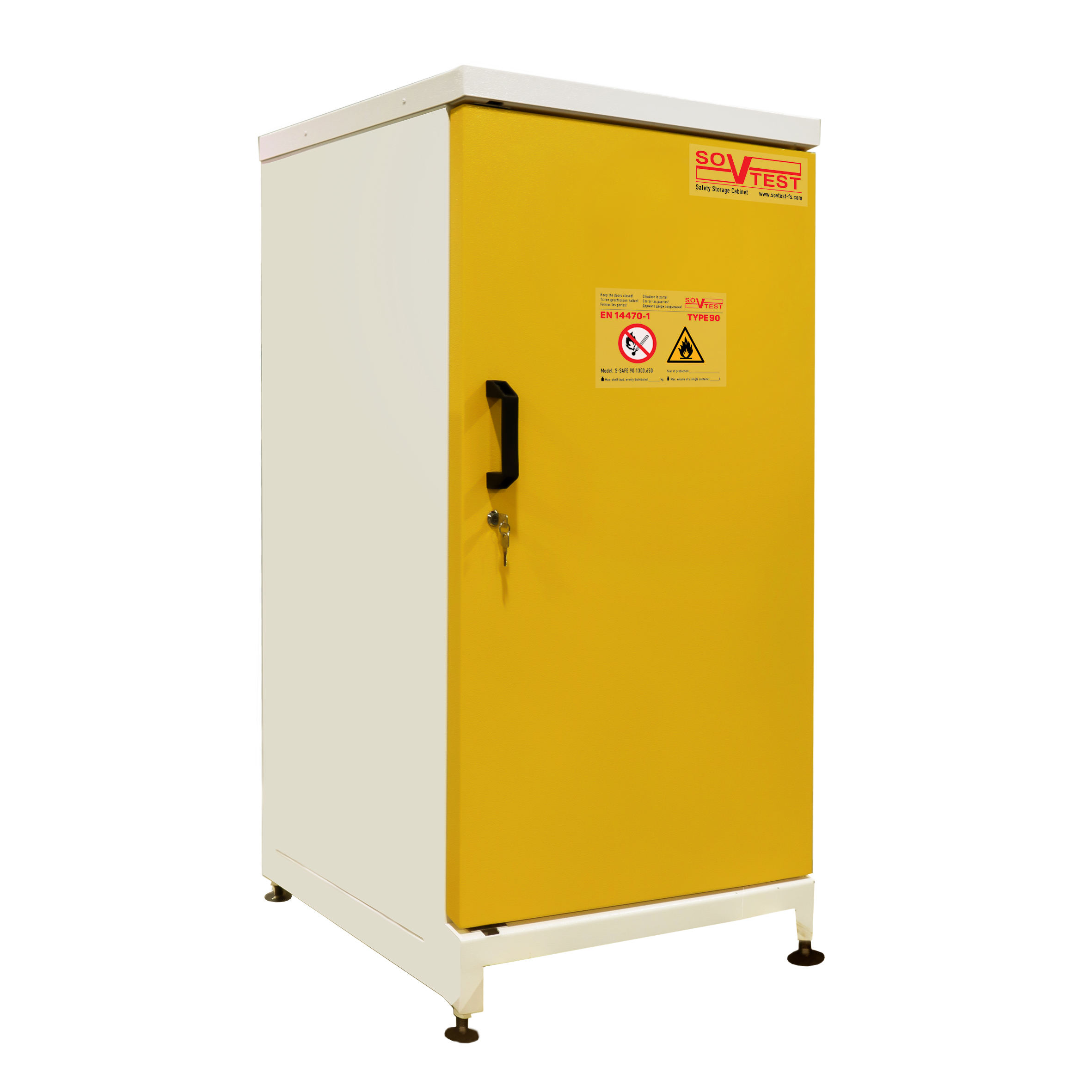 S-SAFE 90.1300.650 SAFETY STORAGE CABINET FOR FLAMMABLE LIQUIDS EN 14470-1