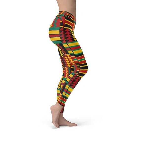 Africa Athleisure or African Print Leggings Culturally inspired Gym Wear