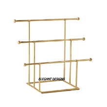 Multi Rack Gold Jewelry stand