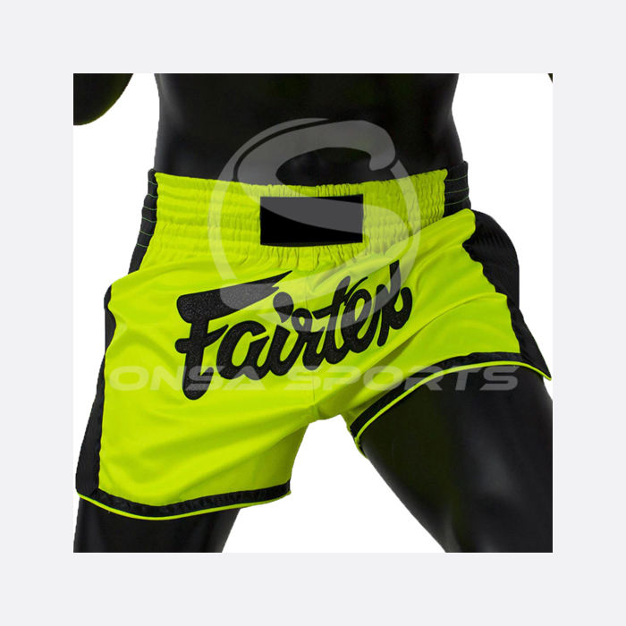 SLIM CUT MUAY THAI SHORTS GREEN
