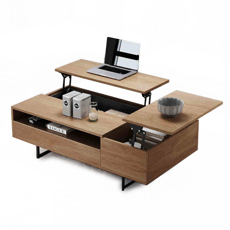 Modern wooden multifunction oak coffee table