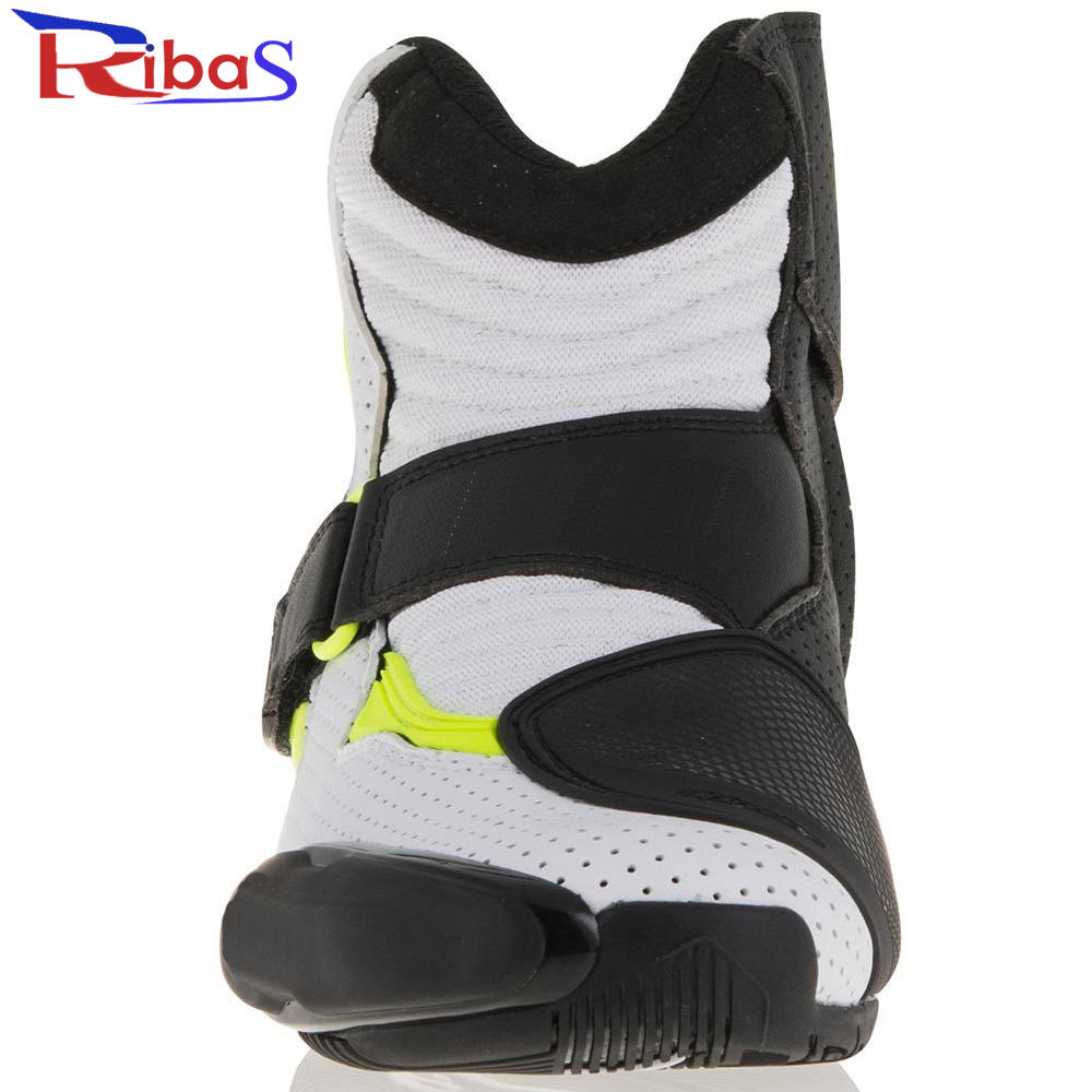 Motorcycle race Leather shoes cow leather high quality low cut racing boots customized USA size racing shoes