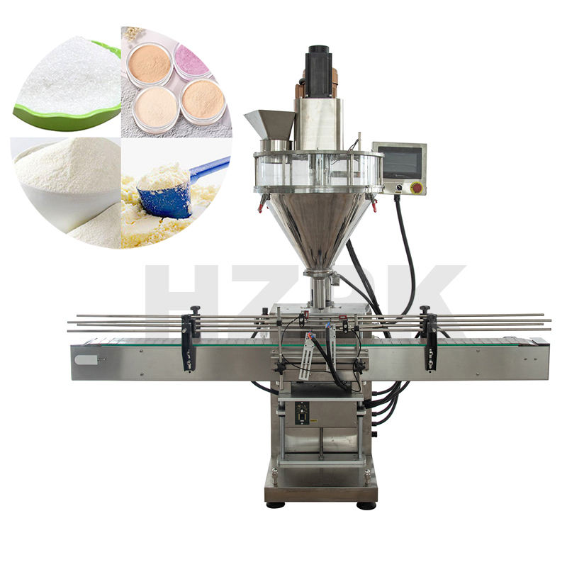 HZPK Automatic powder filling machine can be customized for milk powder, flour
