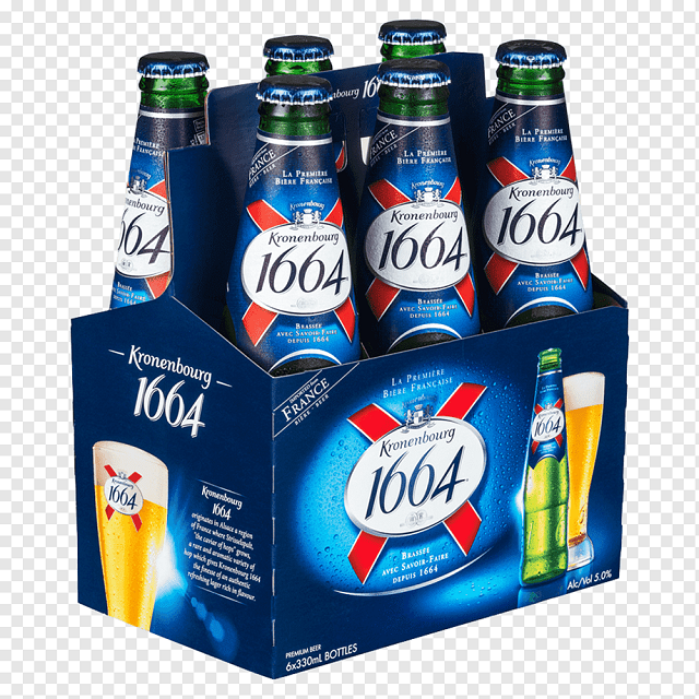 Kronenbourg 1664 Blanc 330ml X 24 Bottles. - Buy 33cl Can Beer,Lager Beer In Cans