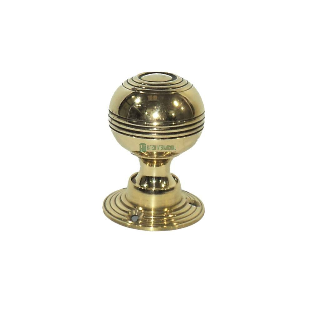 Brass Bloxwich Door Knobs - Elegant Gold Polished Knobs - Handcrafted Premium Metal Knobs - Wholesale Bulk India Manufacturer