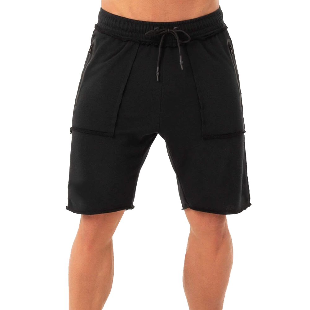 Top Quality Wholesale Customized Simple Design Black Shorts For Adults