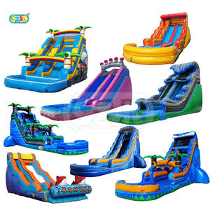 waterslide pool commercial inflatable water slide for kid big cheap bounce house jumper bouncy jump castle bouncer large china