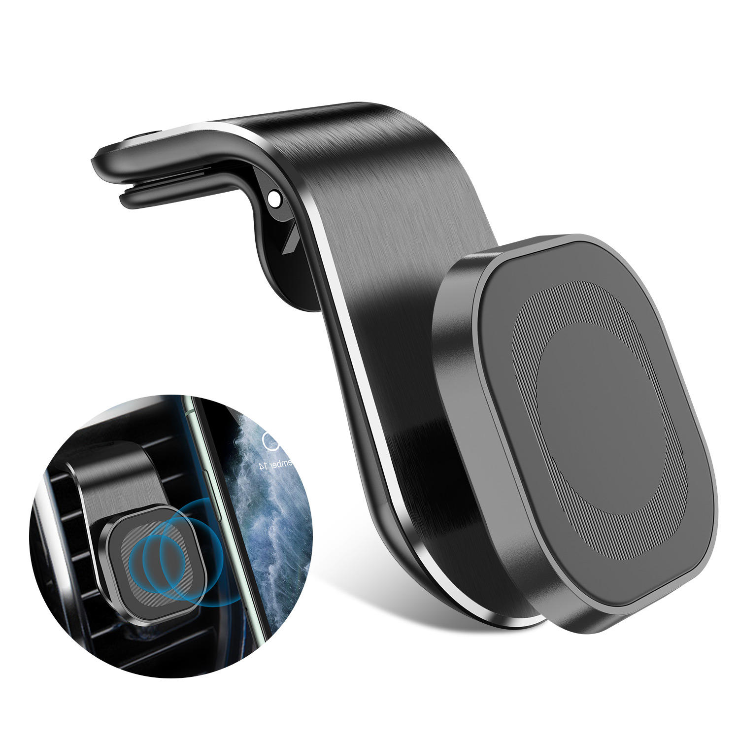 Strong Magnetic Car Phone Holder 360 Degree Rotatable Car Air Vent Mount Holder Applicable For Most Smart Phone 3.5-7 Inch