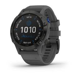 Garmin fenix 6 - Pro Solar Edition Black with slate grey band PART NUMBER 010-02410-11