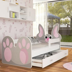 Children's Lovely BUNNY Bed Kids Toddler with Mattress and Drawer