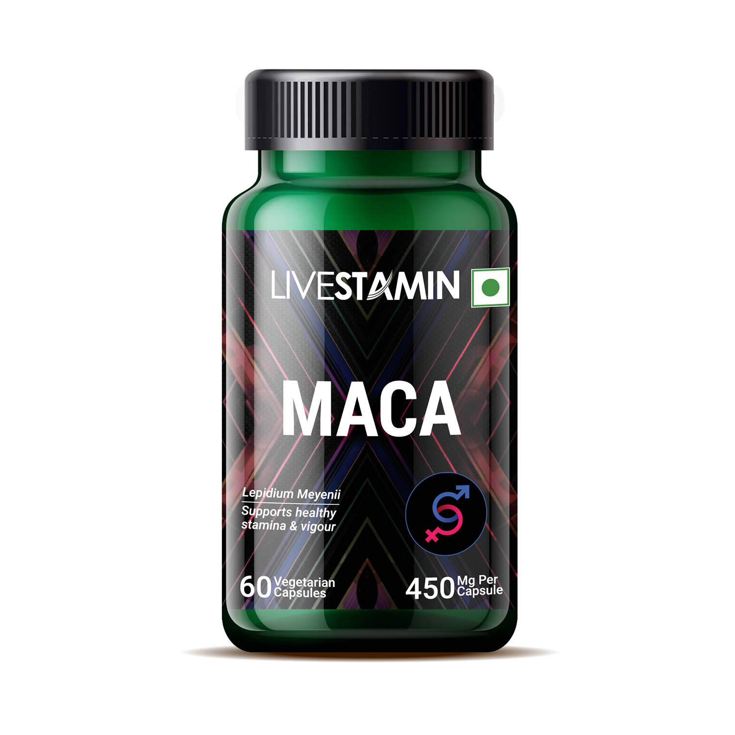 Maca Herbal Extract Capsules 450mg With Lepidium meyenii For Energy and Stamina Supplement Private Label GMP- ISO