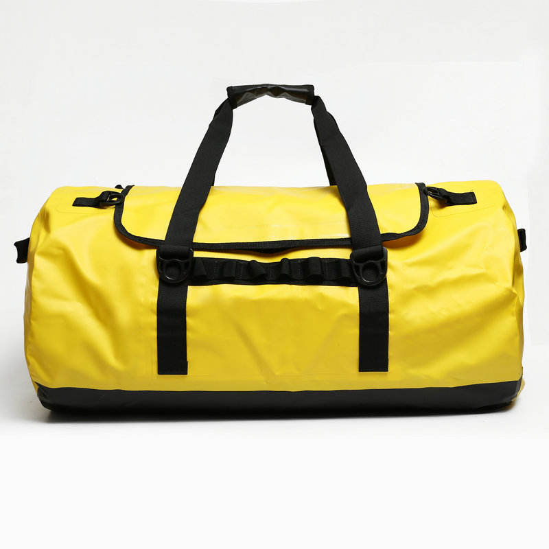 High quality custom pvc tarpaulin outdoor travel sport folding gym waterproof duffel bag