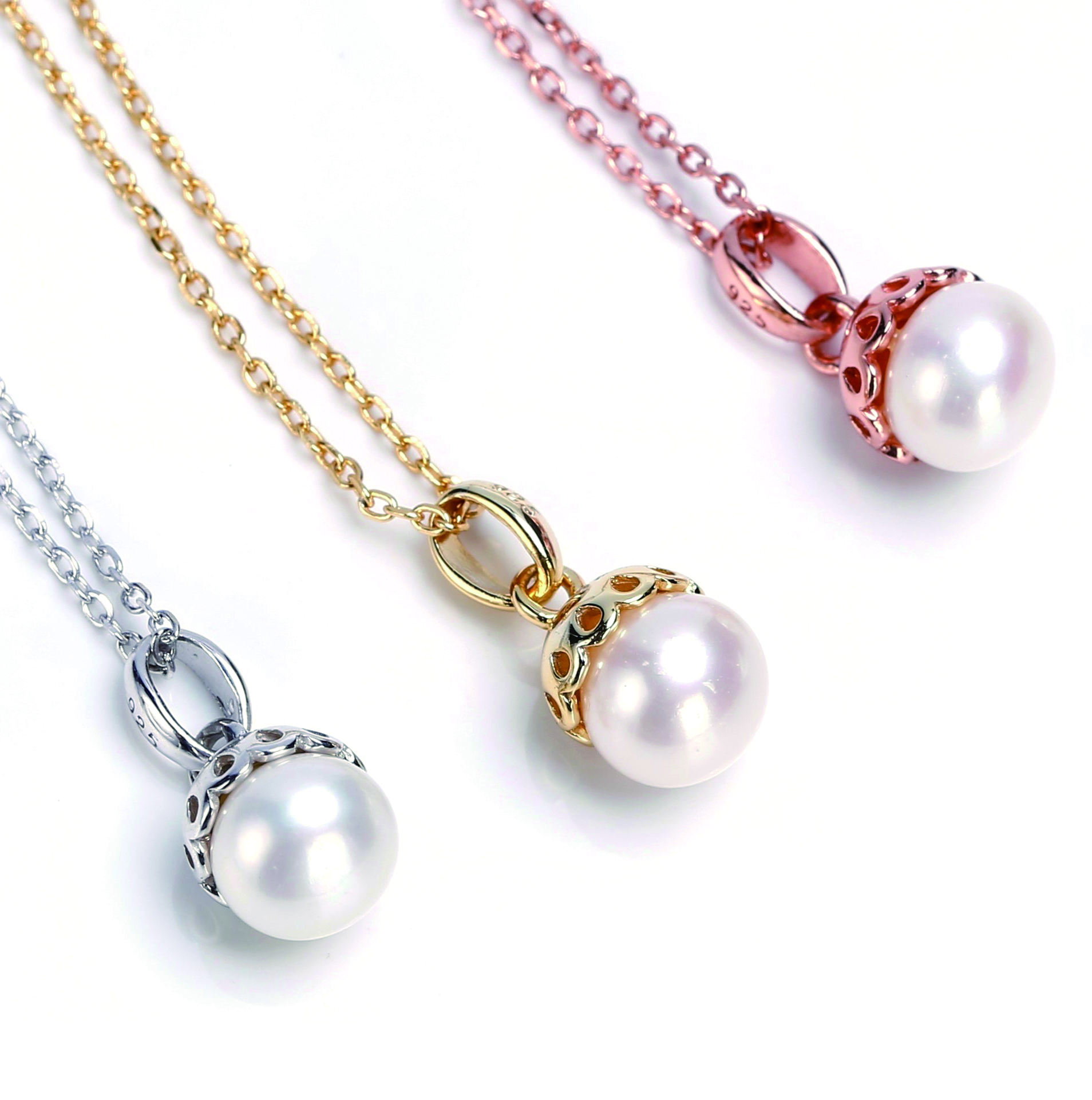 One-Stop Service [ Pearl Pendant Necklace ] 925 Silver Necklace Free Sample 925 Sterling Silver Freshwater Pearl Pendant Necklace For Women And Girls