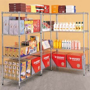 Industrie 4 Tier Einstellbare Chrom Heavy Duty Draht Regale