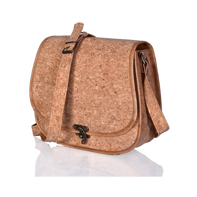 Cover Closure Type and Stone Pattern Type Vegan Leather Cork Bags
