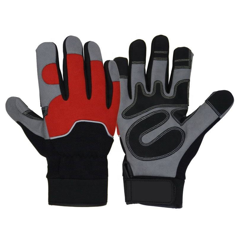 Reinforced Palm Patch Reflective Pipe Binding Mechanics Hand Gloves Custom Logo