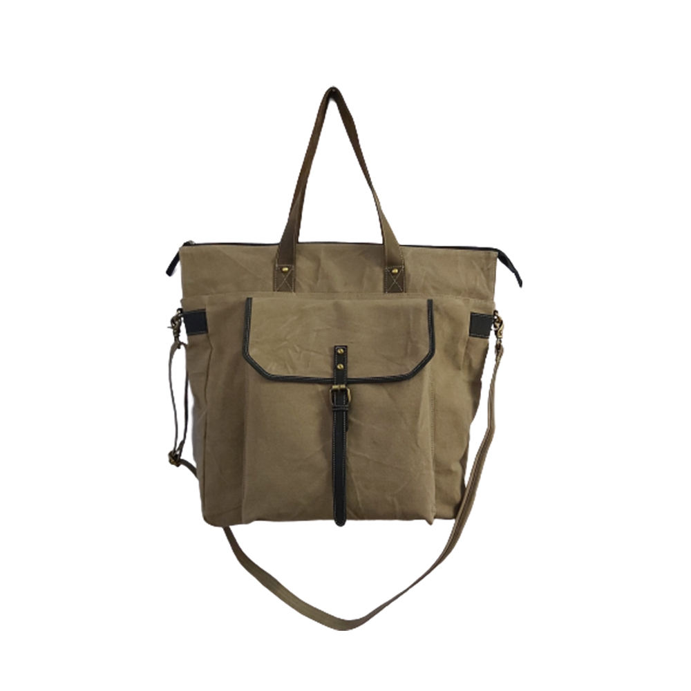 Canvas and Leather Ladies Office Bag