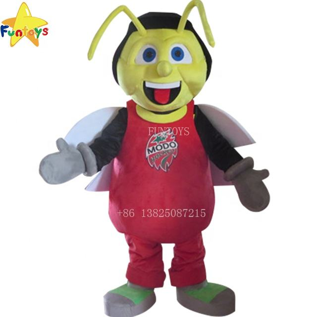 Funtoys CE custom cute anime animation bee cartoon animal insect mascot costume halloween traje mascotte for adult