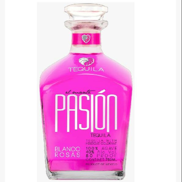 Alcoholic beverages distilled liquor El Mante Pasion Blanco Rosas Tequila