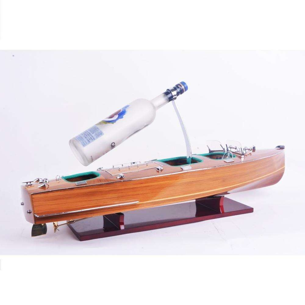 Vietnam High Quality Wooden Model Boat Chris Craft L80 with wine holder