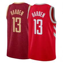 18-19 Embroidery Men's #13 James Harden Red Basketball Jersey/ Uniform