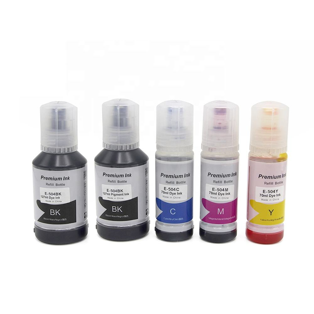 Tatrix Premium Compatible Eco Color Water Based Bottle Refill Bulk Inkjet Ink 504 T504 for Epson Ecotank L4150 L4160