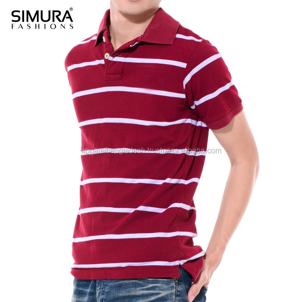 Cotton Fastness Original Polo Manufacturer Contrast Color Men T Shirts