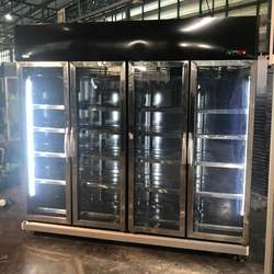 4 glass doors chiller  refrigerator