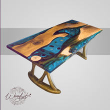 Luxury, Live Edge, Chic Living Room or Office Large Epoxy Resin Wood Table (one-piece) 220cm X 91cm