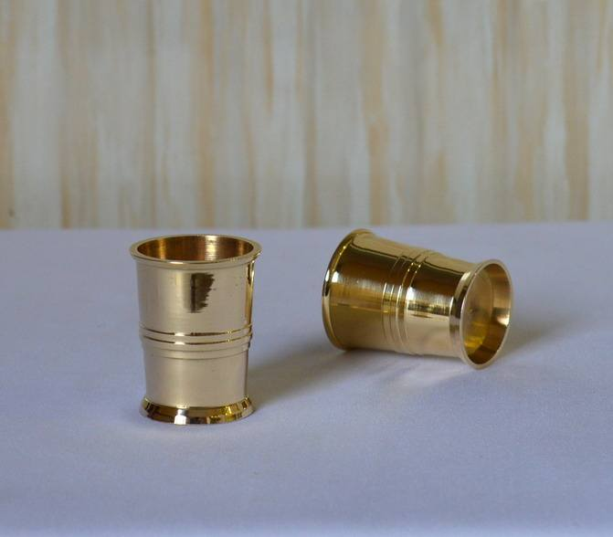 Brass metal wine julep cup