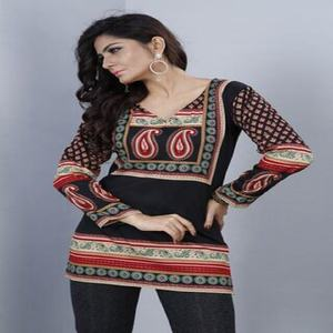 Latest Soft indian Crep/Fancy Kurti /Ladies top
