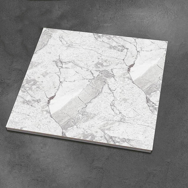 Glazed Tiles and Marbles Porcelain Floors Tiles High Gloss Gray Sale Choice Metallic Wall Acid Time Surface Packing