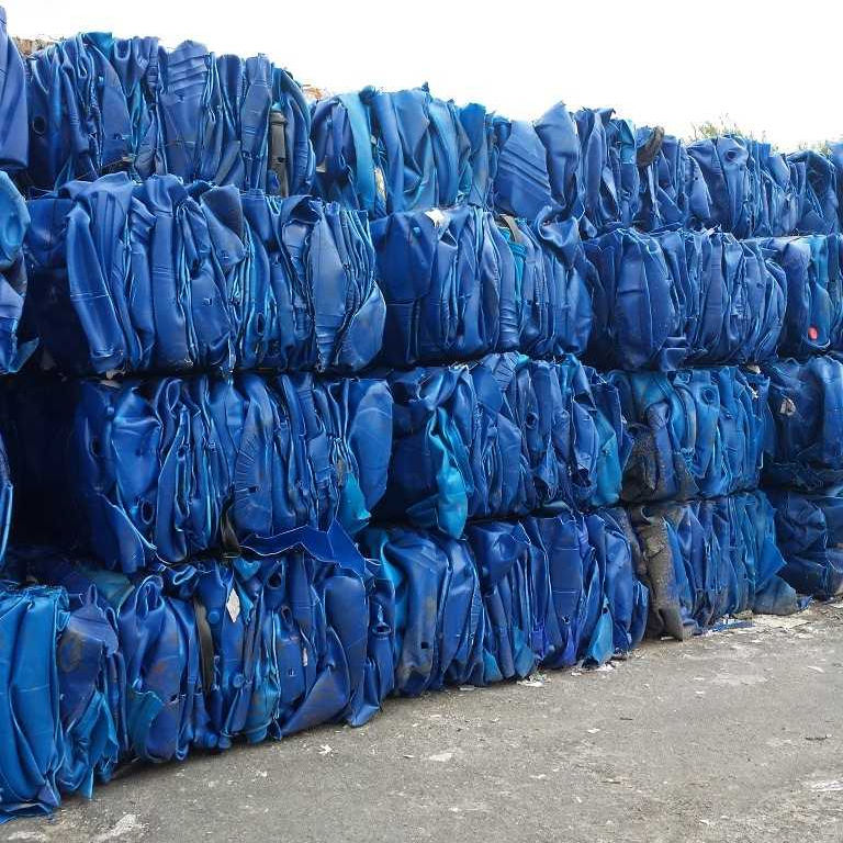 Quality HDPE blue drum baled scrap/HDPE blue drum In Bales