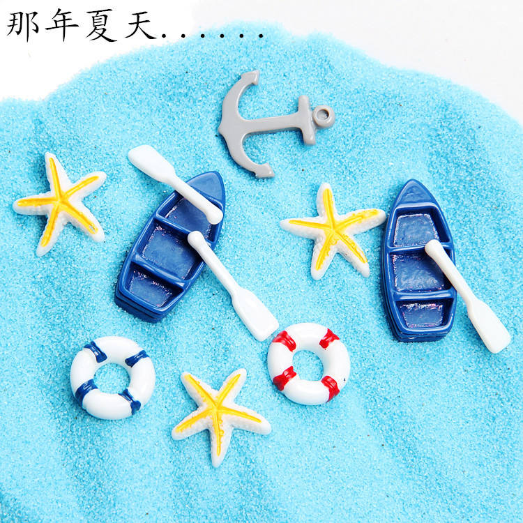 Wholesale Marine Series Flat Back Cute Mini Resin Crafts Cell Phone Case Accessory Diy Jewelry 100pcs