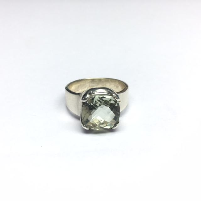 925 solid sterling silver ring with real high quality green amethyst ring stylish silver ring
