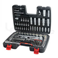 108 Pcs Socket Wrench Set Auto Car Workshop Repair Hand Tools Kits 1/2 and 1/4 DR Professional Taiwan Made Tools