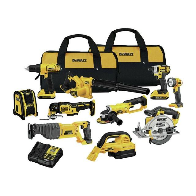 DCK1020D2 DEWALTs 10 Power Tools 20V Lithium Ion <span class=keywords><strong>Khoan</strong></span> Điều Khiển Cordless Combo Bag <span class=keywords><strong>Kit</strong></span>