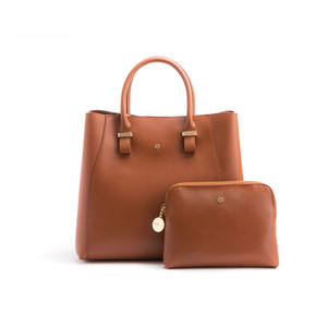 GUNAS New York Jane Tan Handbags Made Of Premium Rubberized Eco PU Material Vegan Purse