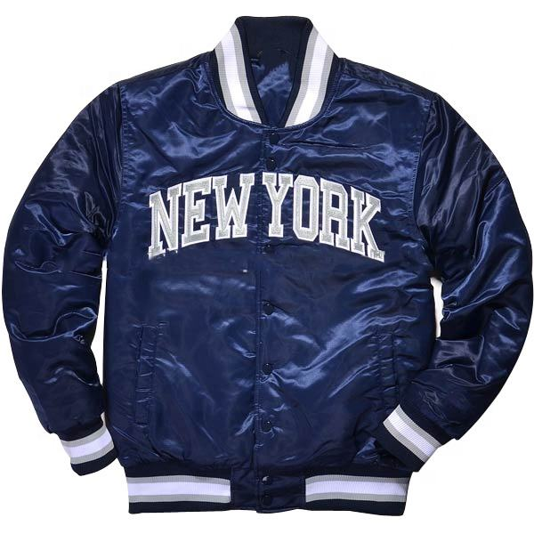 Wholesale High Quality Custom Bomber Jacket Embroidered Logo Satin Men Bomber Jacket At Oriole Golden