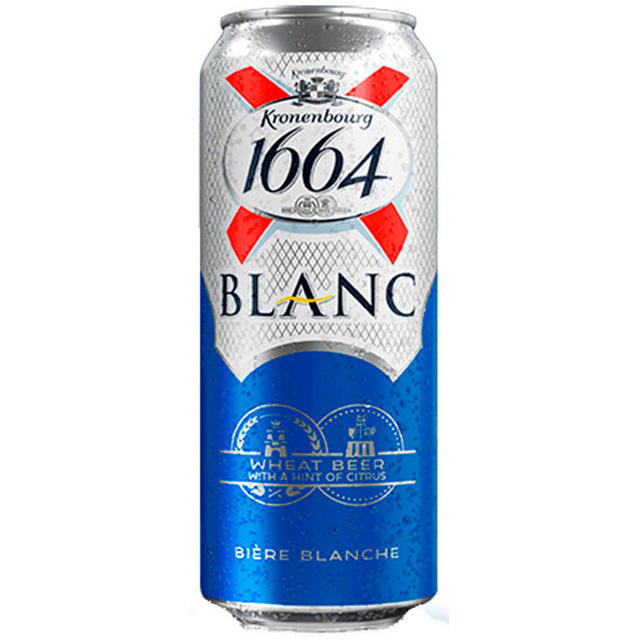 Lager Typ Helle Farbe Kronen bourg 1664 Blanc <span class=keywords><strong>Bier</strong></span>