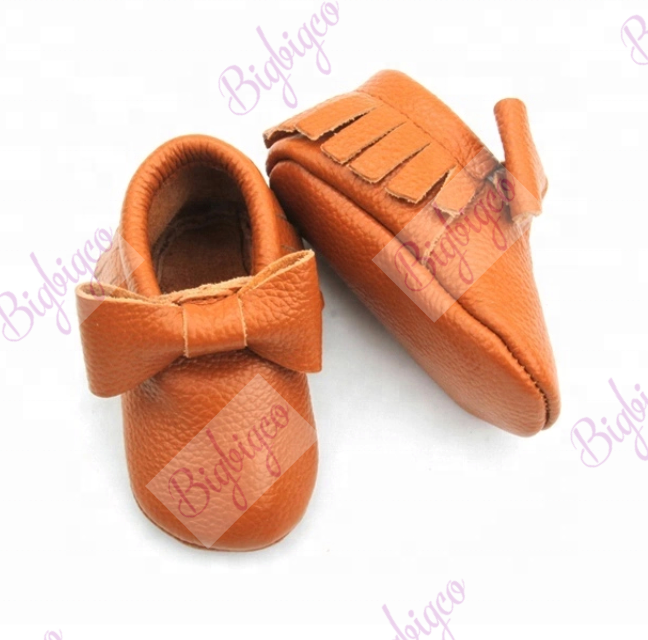 Genuine leather baby moccasins shoes soft sole fringe Baby moccasins infant baby shoes soft soled shoes for kids