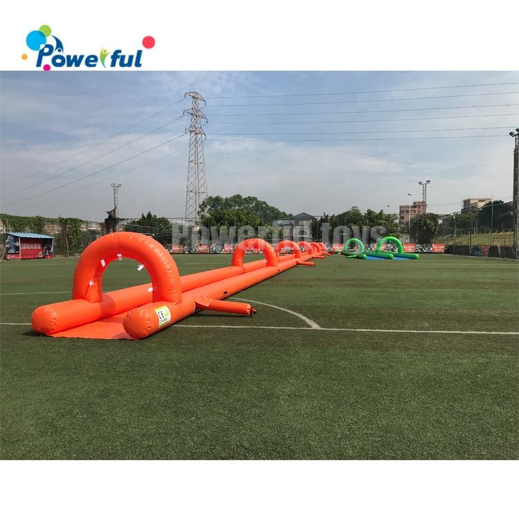 customized logo 50mL Slip n Slide inflatable slide the city long inflatable water slides